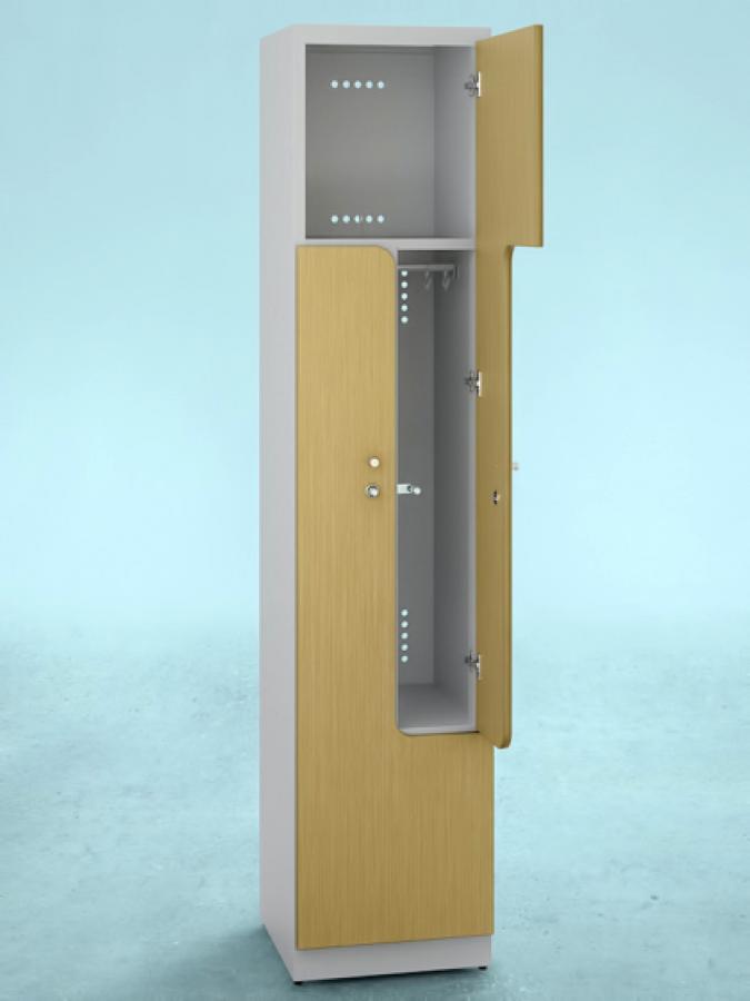 Szafa L2 DPM_drzwi R 3082L_korpus RAL 9002_mała