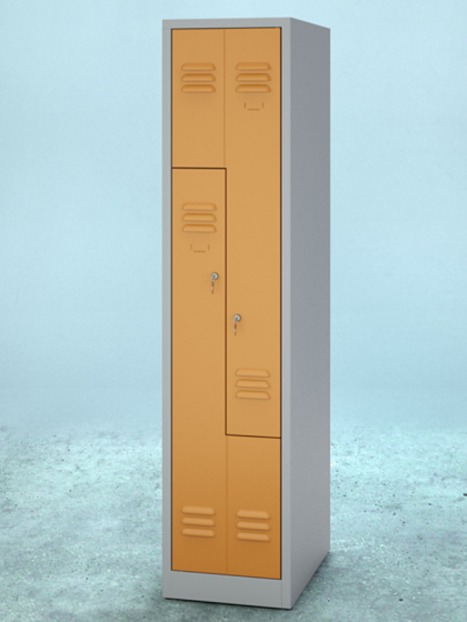 Szafa L2, drzwi RAL 2000, korpus RAL 7035_mała