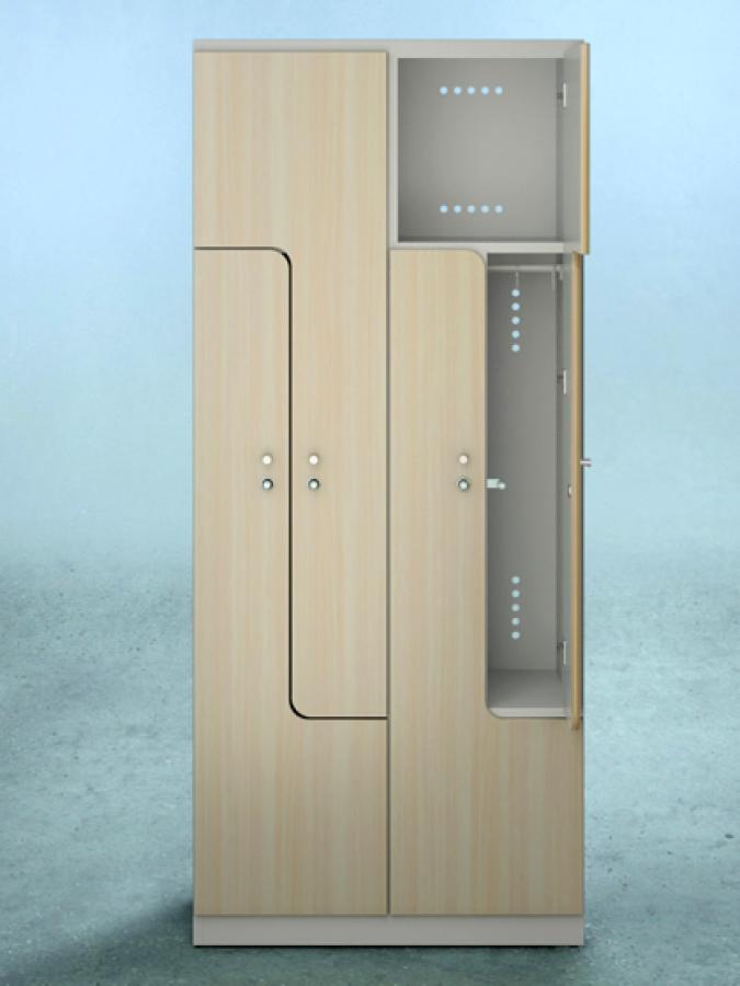 Szafa L4 DPM_drzwi R4120L_korpus RAL 9002_mała