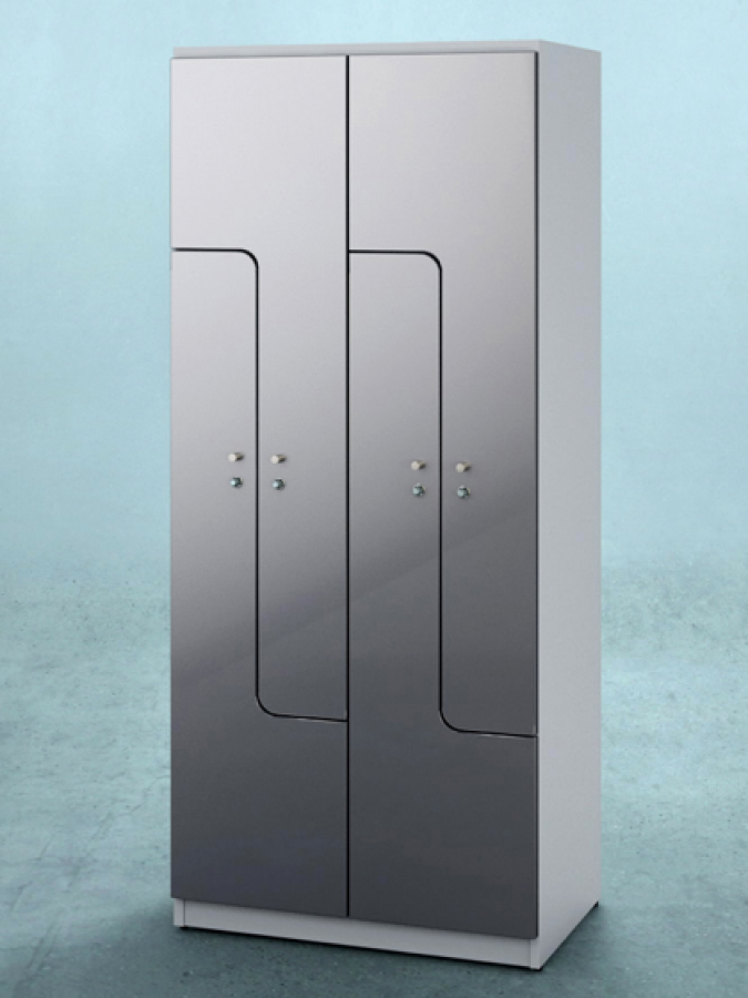 Szafa L4 DPL HG_drzwi MDF high gloss_korpus RAL 9002_mała