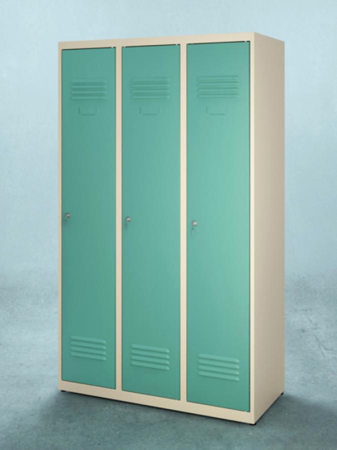 Szafa S-120_3D_drzwi RAL 5018_korpus RAL 1015_mała