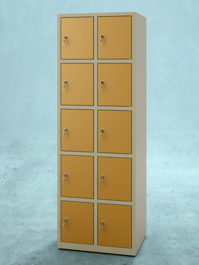 Szafa S10_30 _ drzwi RAL 1007 _ korpus RAL 1000_mała