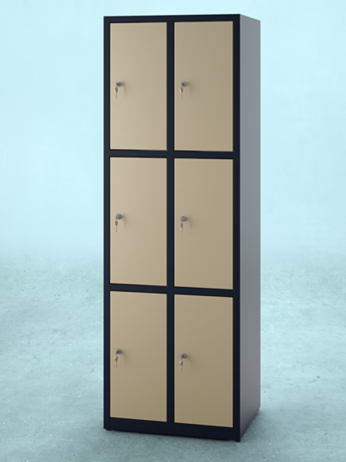 Szafa S6_30 _ drzwi RAL 1015 _ korpus RAL 9005_mała