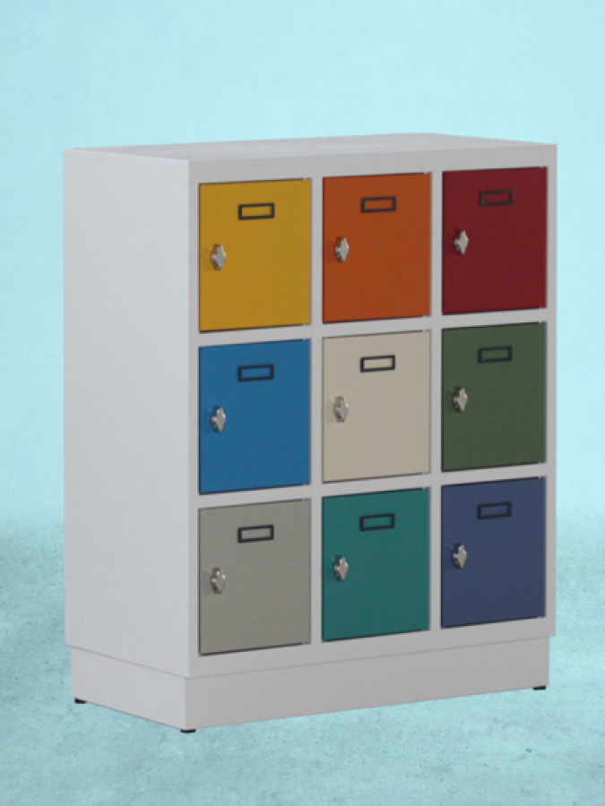 SK9 MINI _ korpus RAL 7035 _ drzwi kolorowe _mała